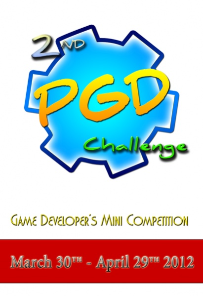 Promotional poster you can use to post about the PGD Challenge on your site and help increase the interest in these mini competitions for game developers using Pascal.