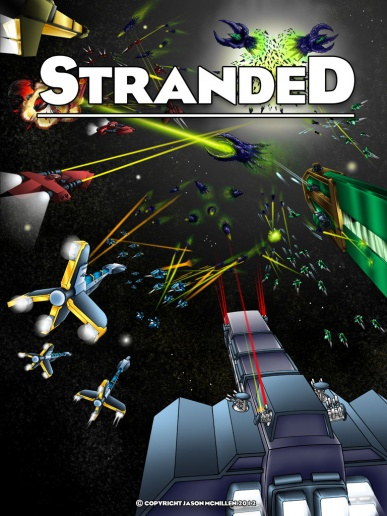 Promotional post of the comic book series Stranded.